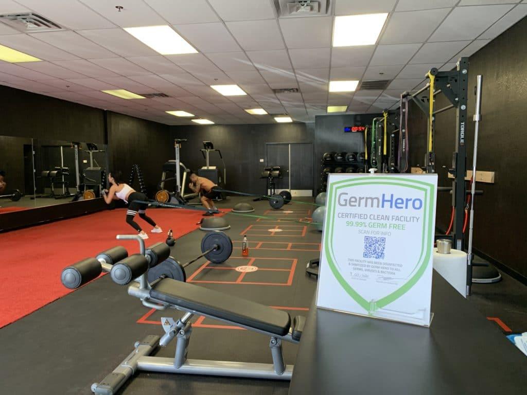 Vegas Strong Gym Germ Hero Verified