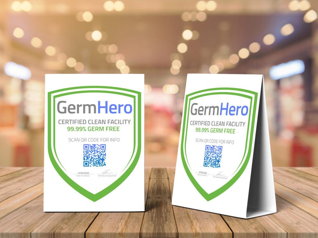 Germ Hero Certified Shield Plaque