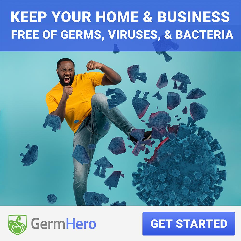 man attacks virus with a kick