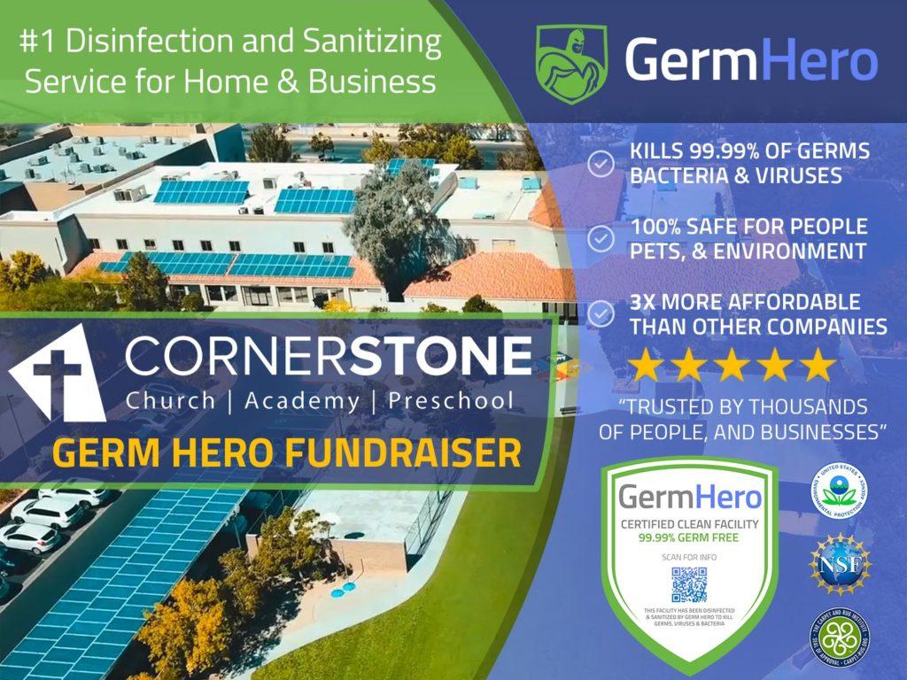 Germ Hero Cornerstone Christian Academy Fundraiser