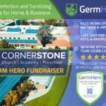CornerStone PTF Fundraiser! 5% of all Germ Hero Bookings for Home Disinfection and Sanitizing Services will go towards CornerStone Christian Academy.
