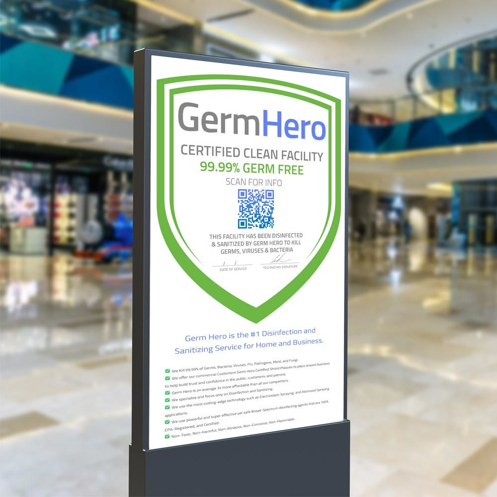Germ Hero Enterprise Verified Shield in Shopping Mall