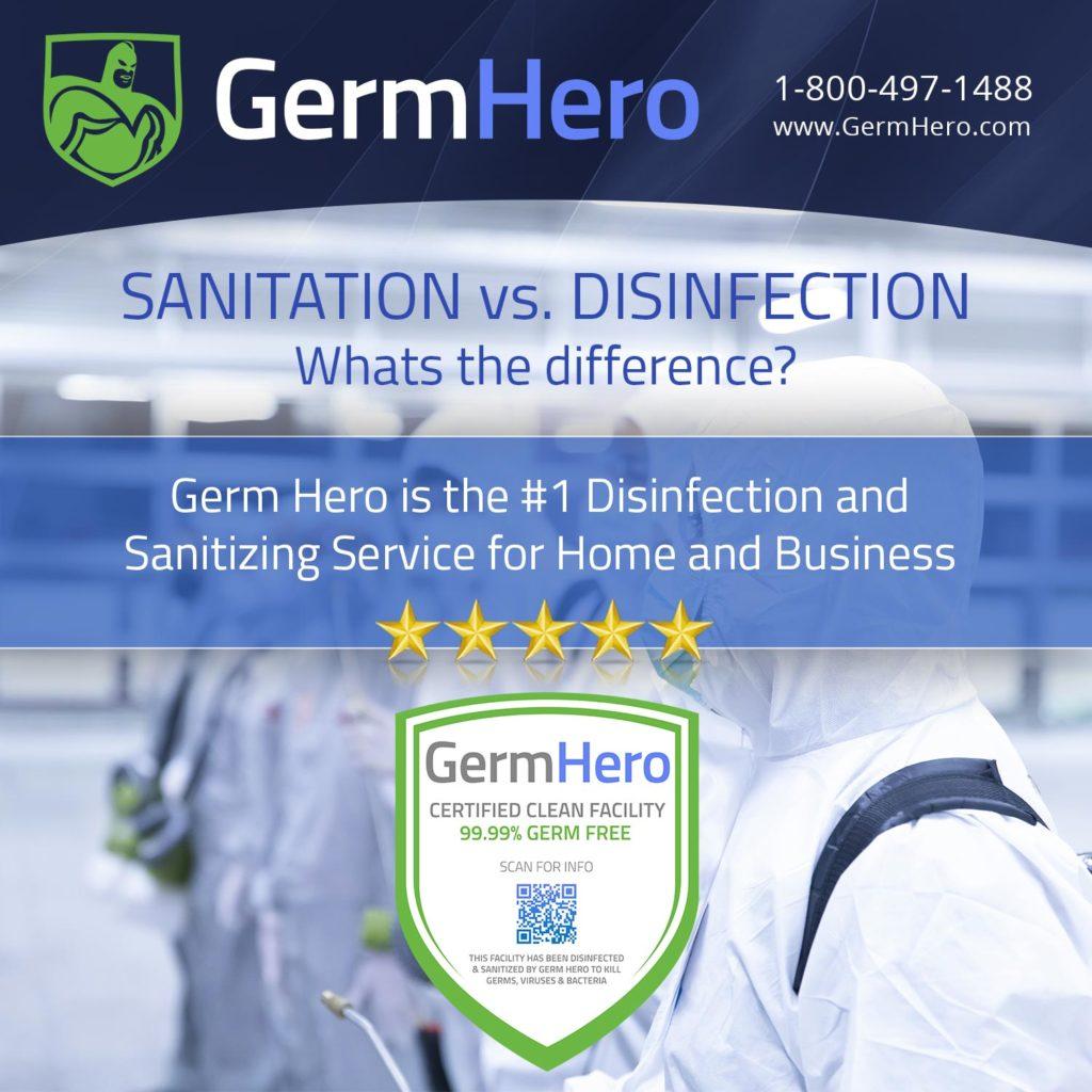 Germ Hero Sanitation vs Disinfection