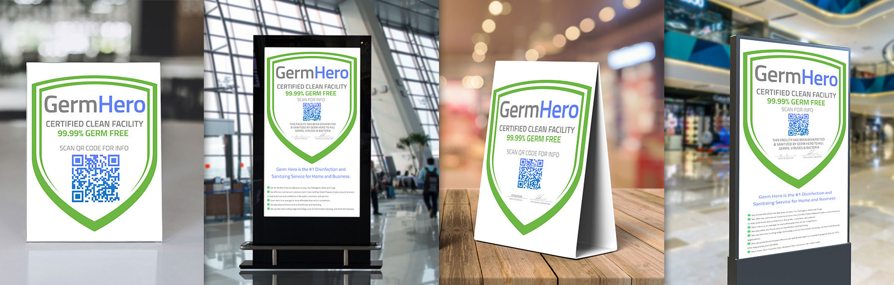 Germ Hero Verified Shield Banner