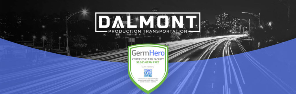 Dalmont is Germ Hero Certified Clean Facility 99.99% Germ Free