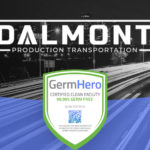 Dalmont Production Transportation Las Vegas Office is Germ Hero Certified 99.99% Germ-Free Facility.